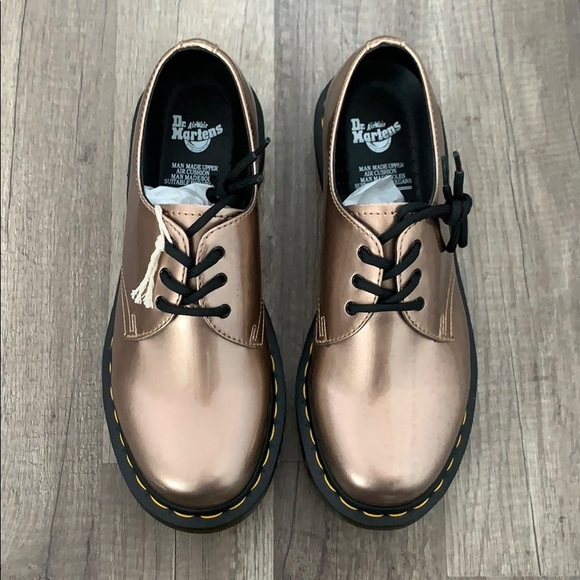 Dr. Martens Shoes - Dr. Martens 1461 Rose Gold Vegan Derby Shoe